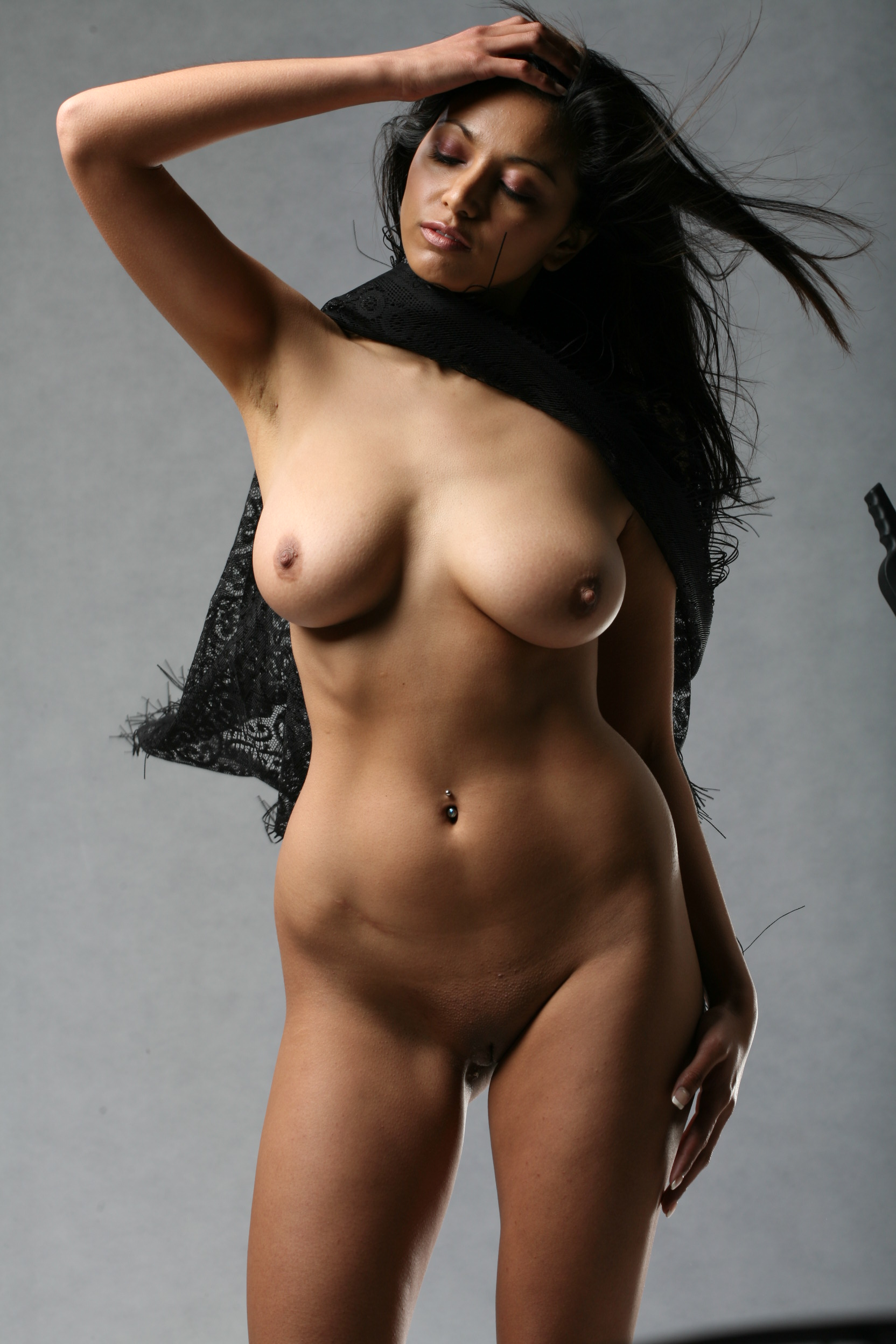 Her, Beautiful busty lady naked exposed just love